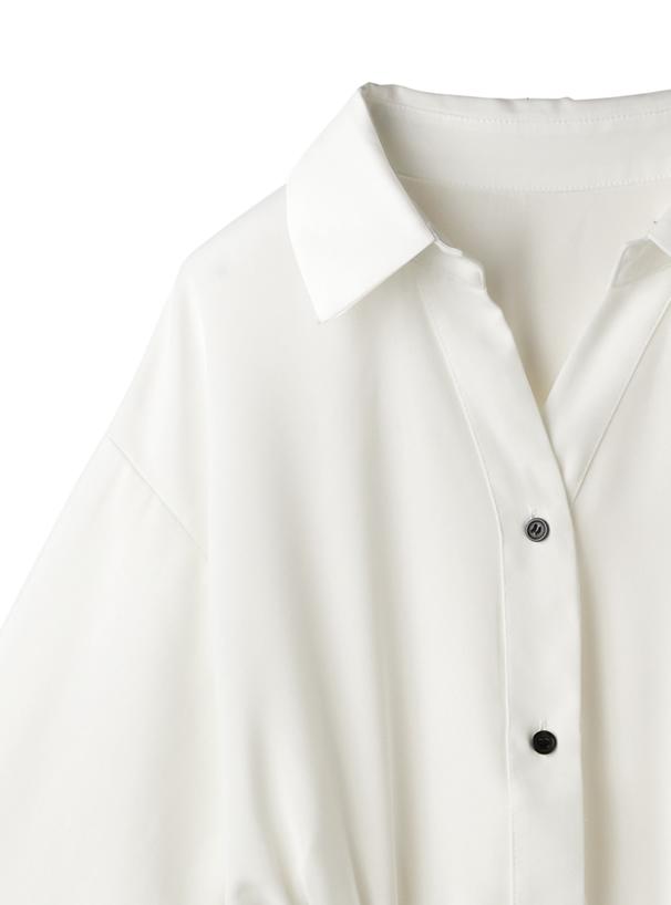 ベルトデザインシャツワンピース