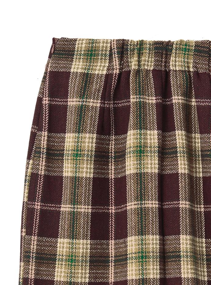 チェックロングタイトスカート
