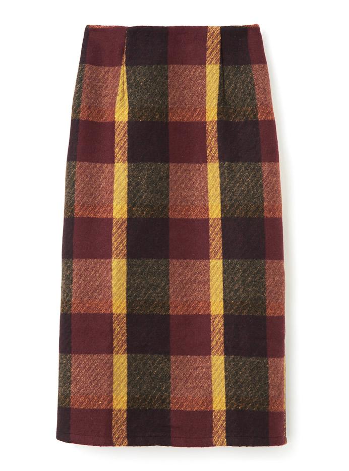 マドラスチェックタイトロングスカート