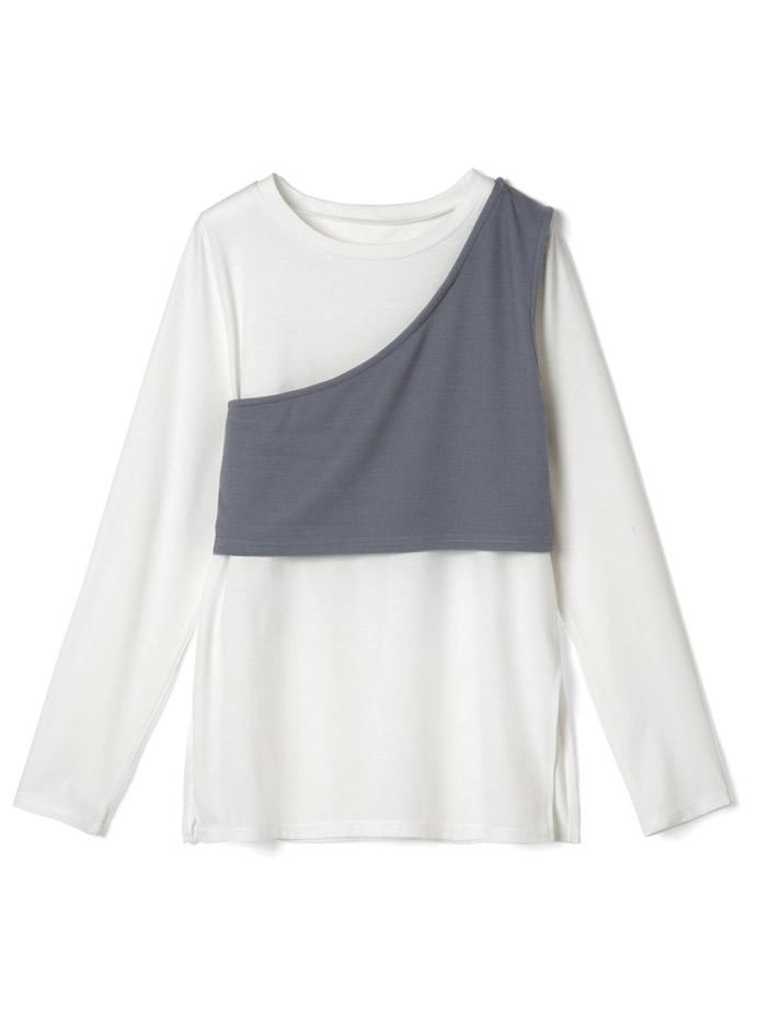 ワンショルビスチェ×ロングTシャツセット