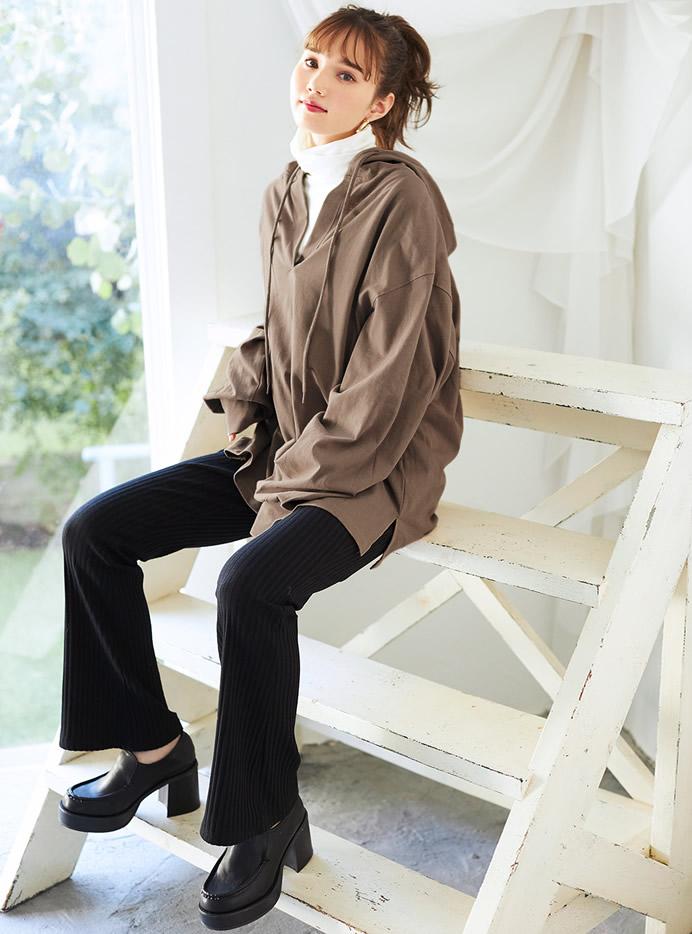 今田美桜 チャンキーヒールボリュームローファー