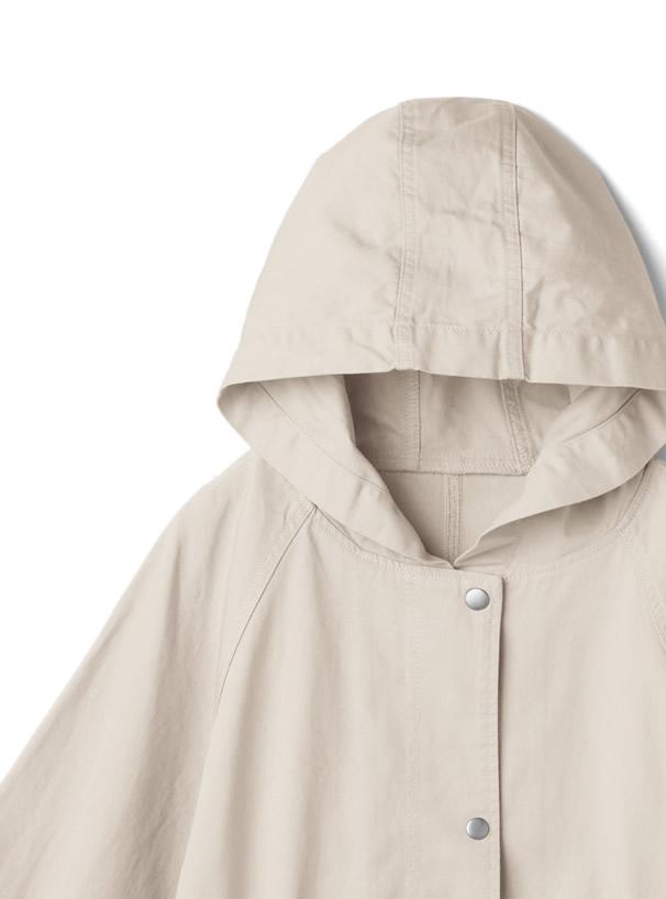 バックスリットウエストドロストツイルジャケット