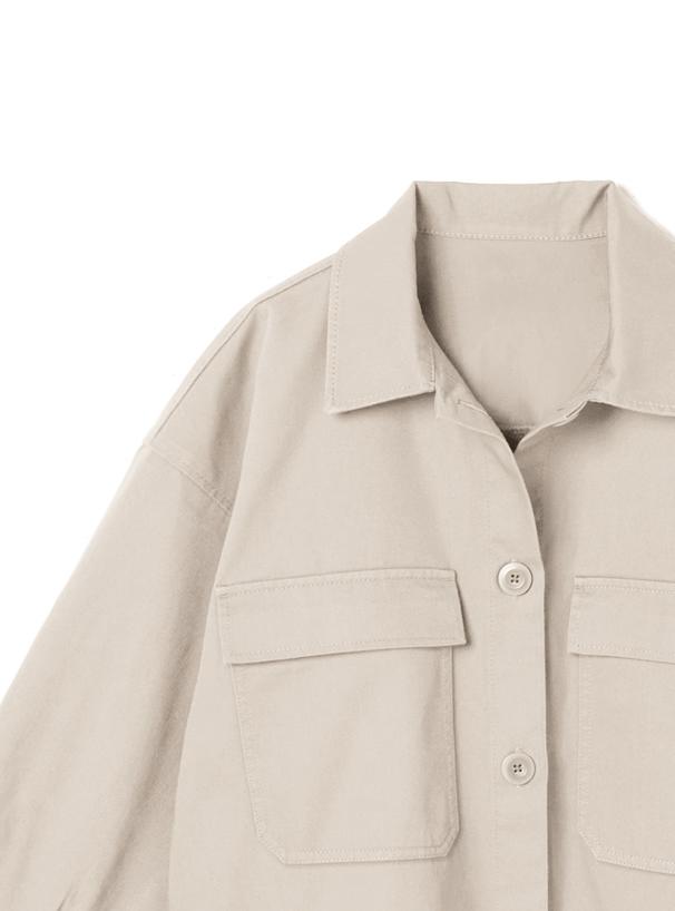 ツイルポケットワイドシャツ