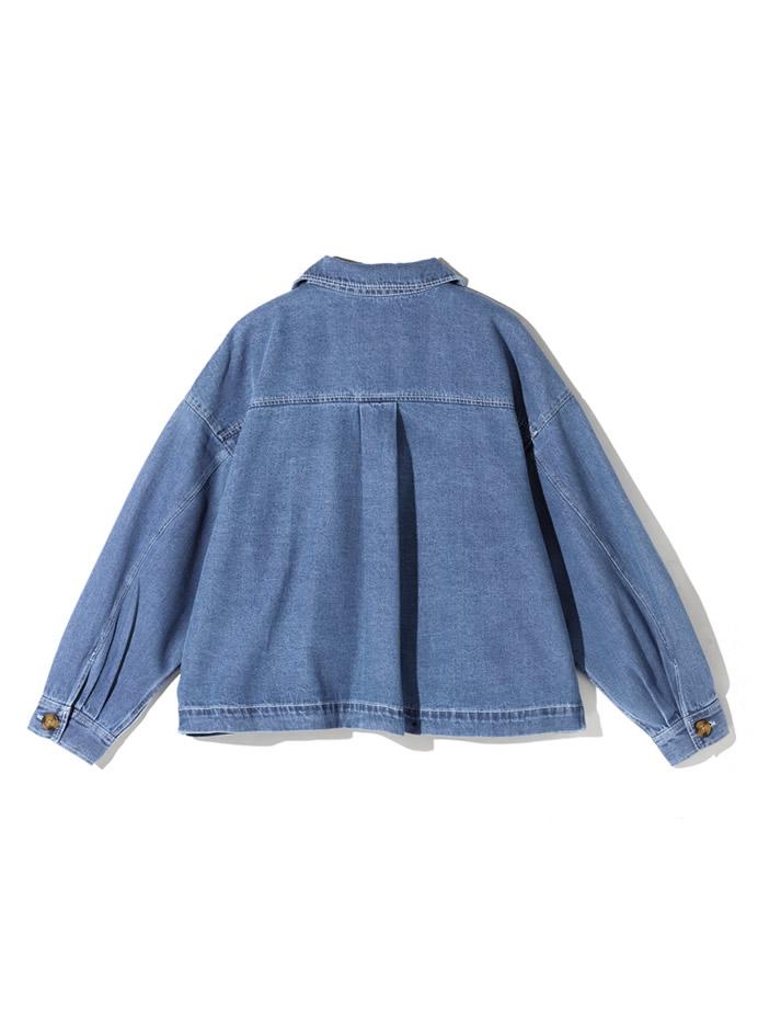 デニムポケットワイドシャツジャケット