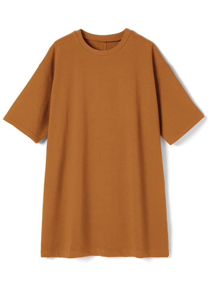 USコットンバックスリットビッグシルエットTシャツ