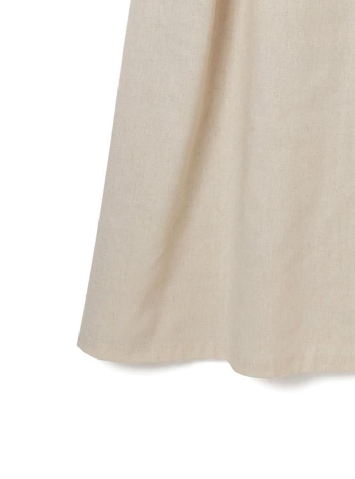 アシンメトリーラップデザインジャンパースカート