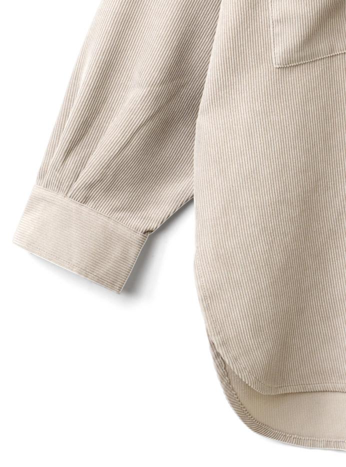 ビッグシルエットコーデュロイシャツ