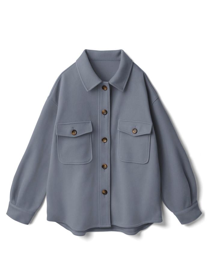 オーバーサイズフェイクウールジャケット