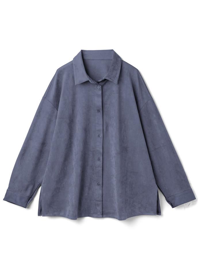 スエードオーバーサイズシャツ
