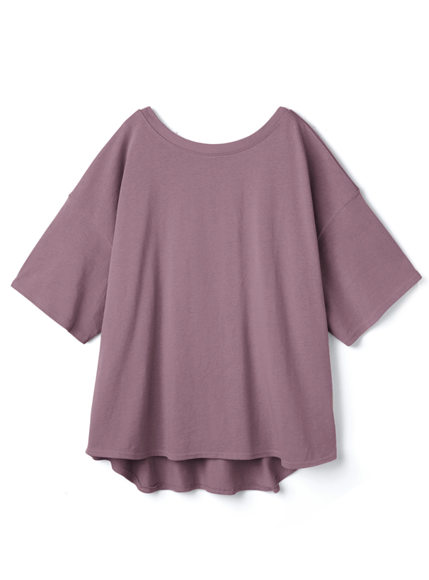USAコットンバックオープンルーズTシャツ