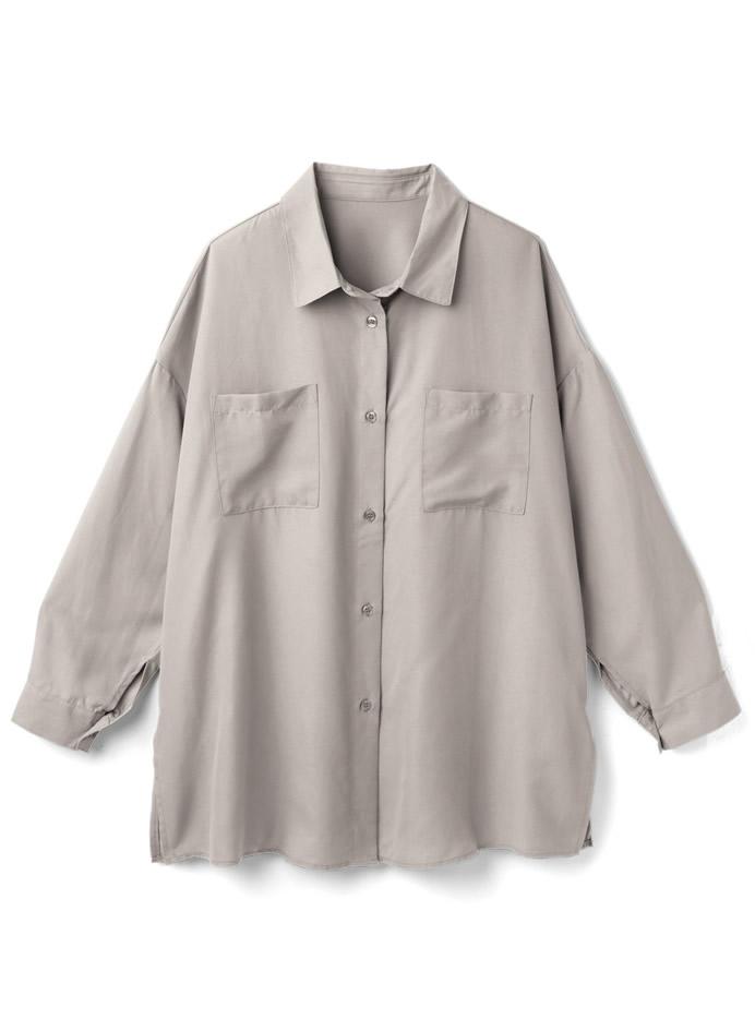 起毛オーバーサイジングシャツ