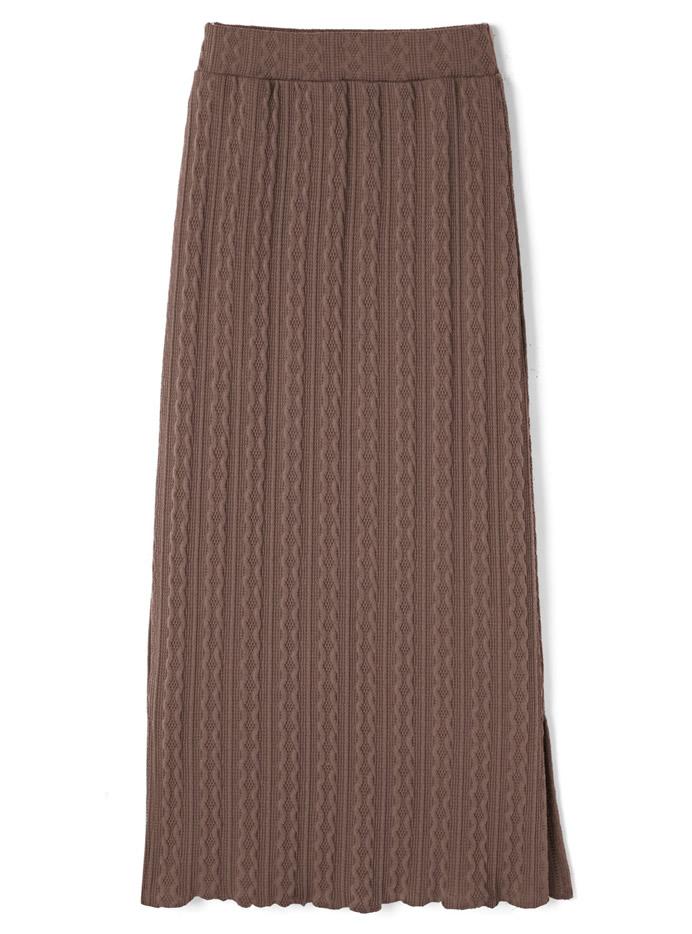 サイドスリットジャガードスカート
