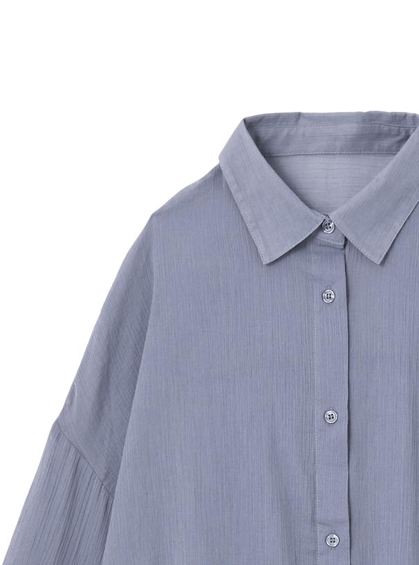 シアーワッシャーワイドシャツ