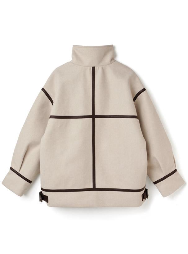 ベルトカラーパイピングジャケット