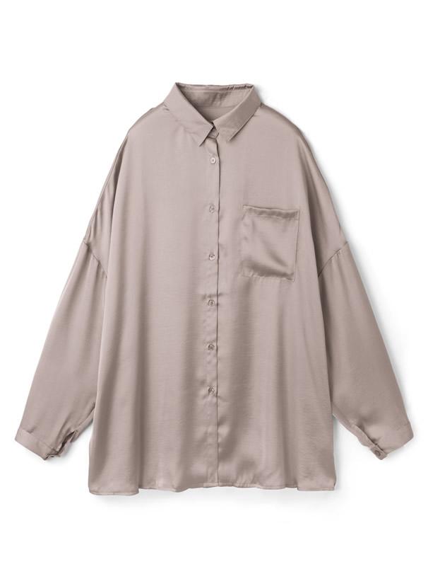 ヴィンテージサテンオーバーサイズシャツ