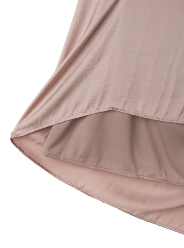 ヴィンテージサテン消しプリーツスカート