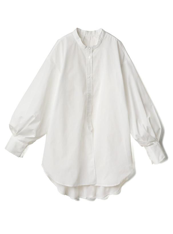 バックタックデザインオーバーサイズシャツ