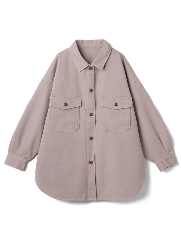 ビッグシルエットカラーツイルCPOシャツジャケット