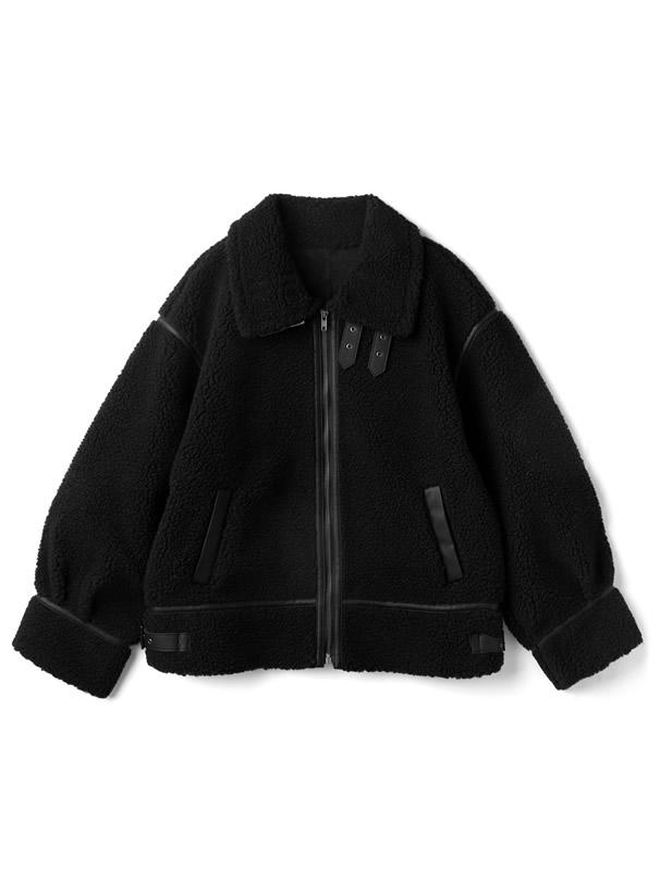 襟2Wayパイピングボアジャケット