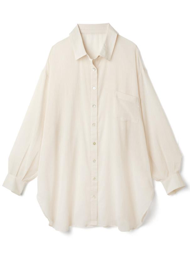 白石麻衣 シアールーズシャツ