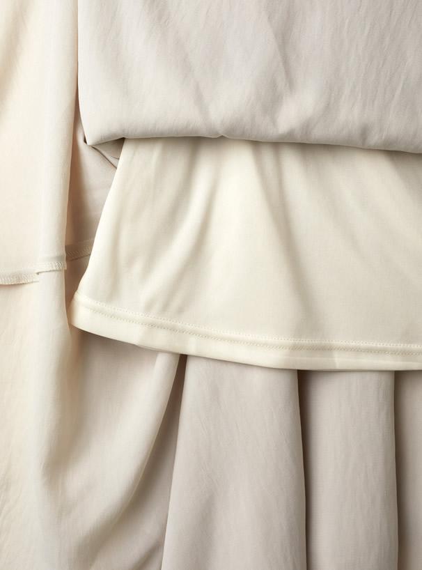 3段フリルフレアスカート