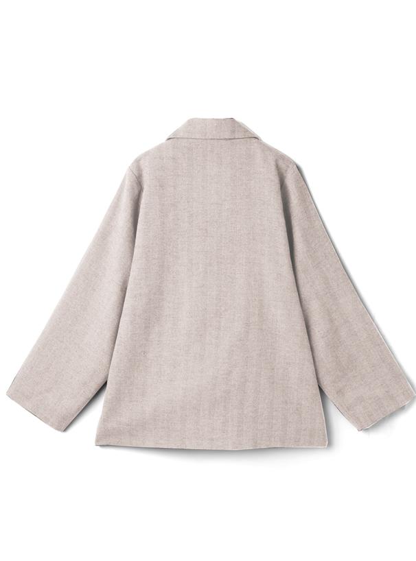 ヘリンボーンダブルテーラードジャケット