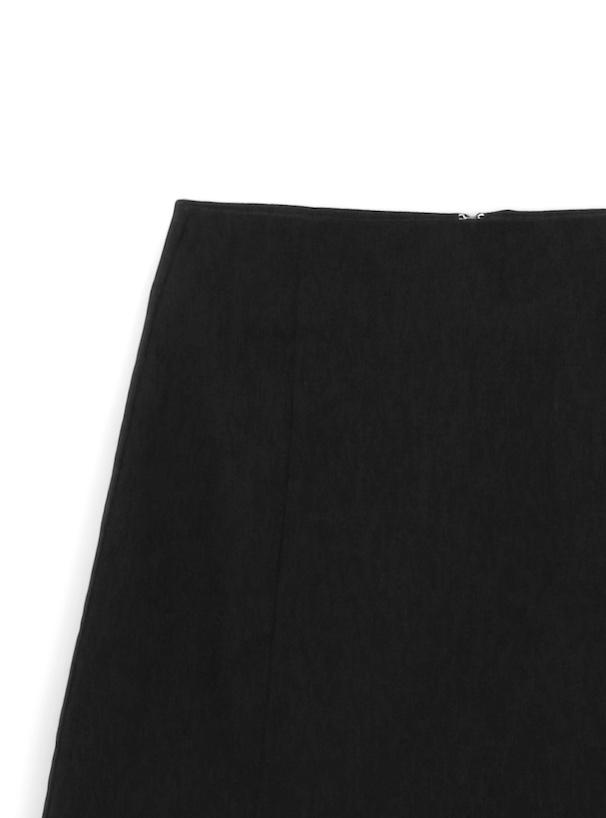 開襟シャツXインパン付きミニスカートセットアップ