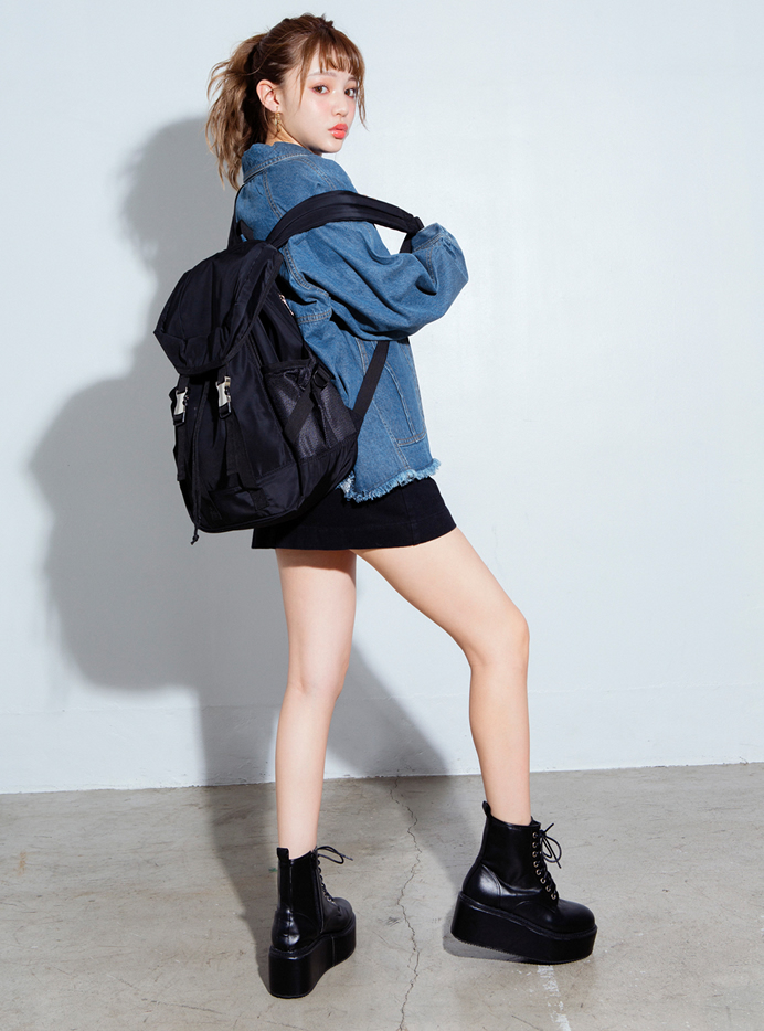 デニムBIGラグランシャツジャケット