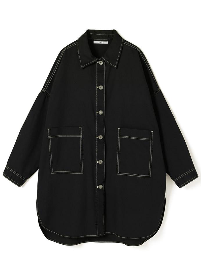 ツイルオーバーサイズシャツ