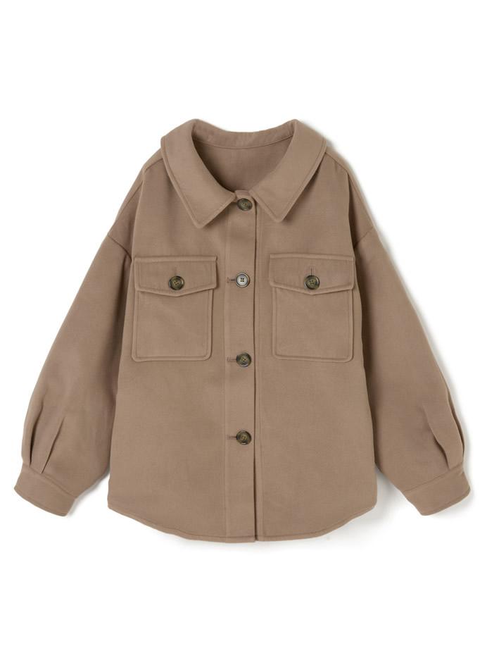 メルトンシャツカラービックシルエットジャケット
