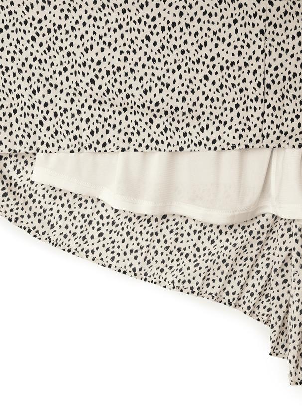 ベルト付きダルメシアン柄プリーツスカート