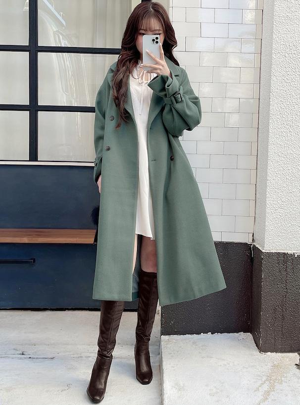 ミドル丈チャンキーヒールブーツ