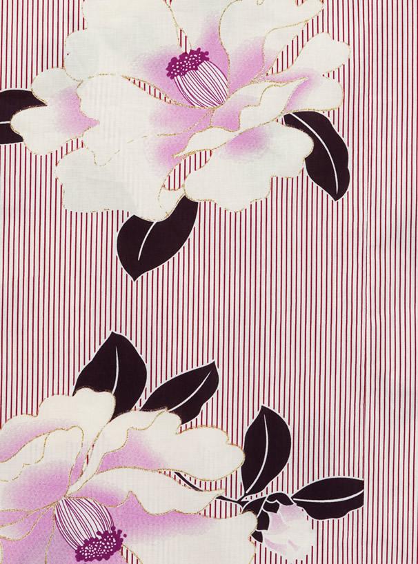 齋藤飛鳥(乃木坂46)4点セットストライプ椿浴衣