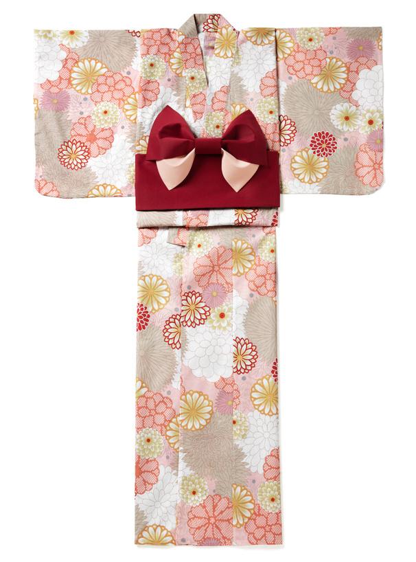 4点セット菊牡丹浴衣