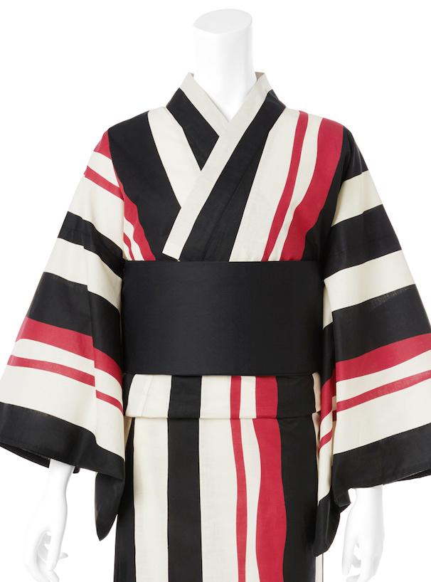 4点セットモダンマルチストライプ浴衣