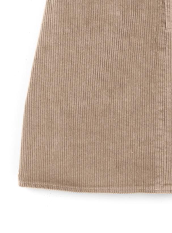 ショートジャケットX台形ミニスカートコーデュロイセットアップ