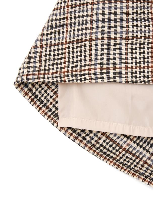 ベルト付きチェックタイトミニスカート