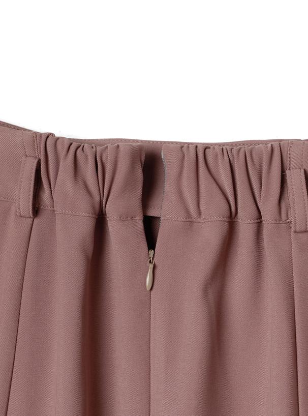 べっ甲柄ベルト付きフレアスカート