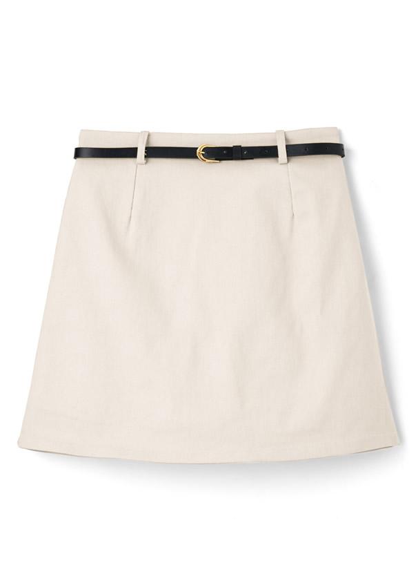 ベルト・インパン付き台形スカート