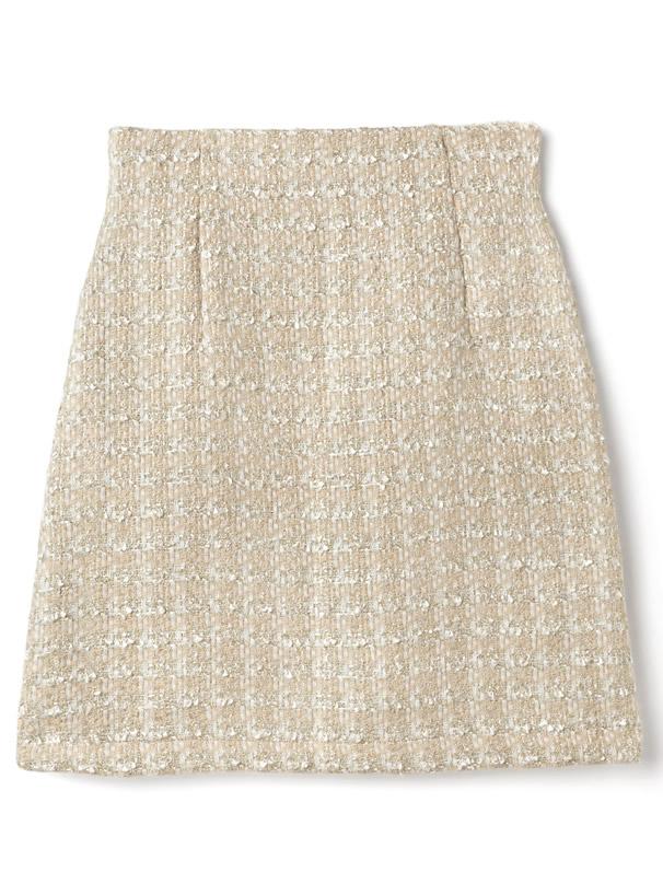 ミックスツイード台形ミニスカート