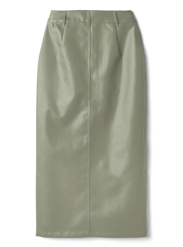 レザーペンシルスカート