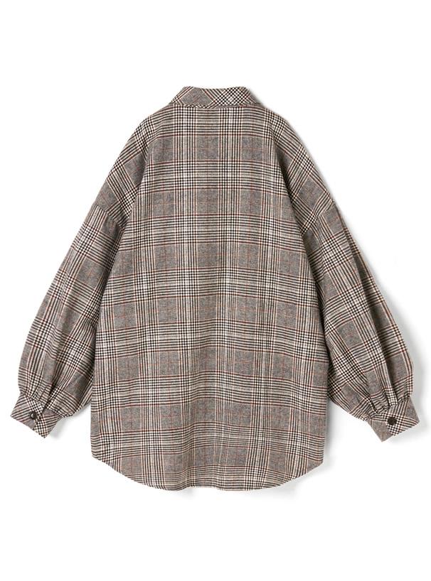 オーバーサイズグレンチェックシャツ