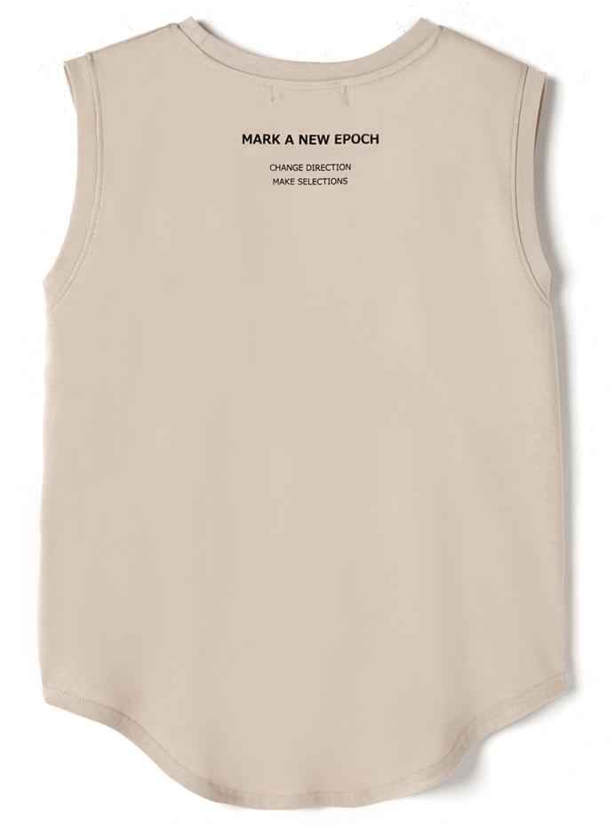 ノースリーブバックプリントTシャツ