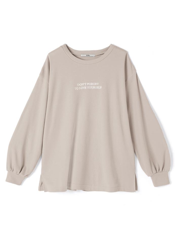 フロント刺繍ロゴロングTシャツ