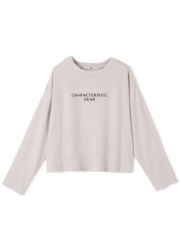 フロントロゴショート丈ロングTシャツ
