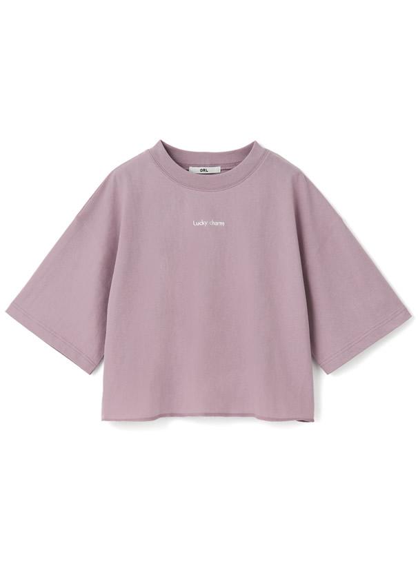 フロント刺繍ロゴTシャツ