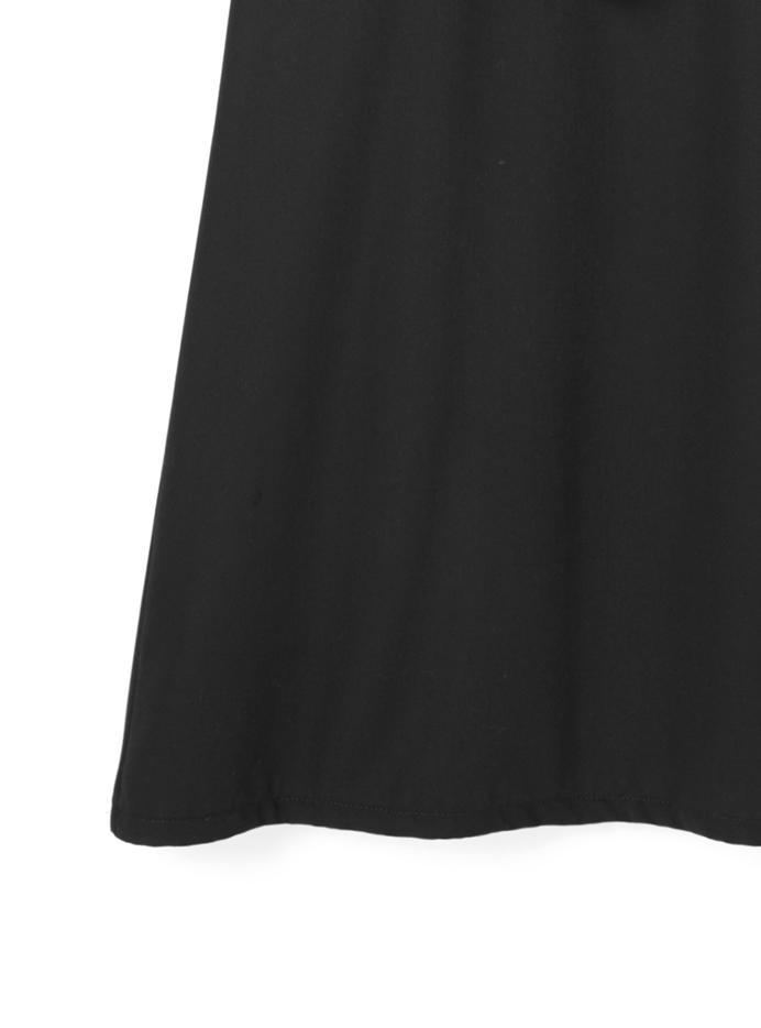 ベルト付きバックプリーツジャンパースカート
