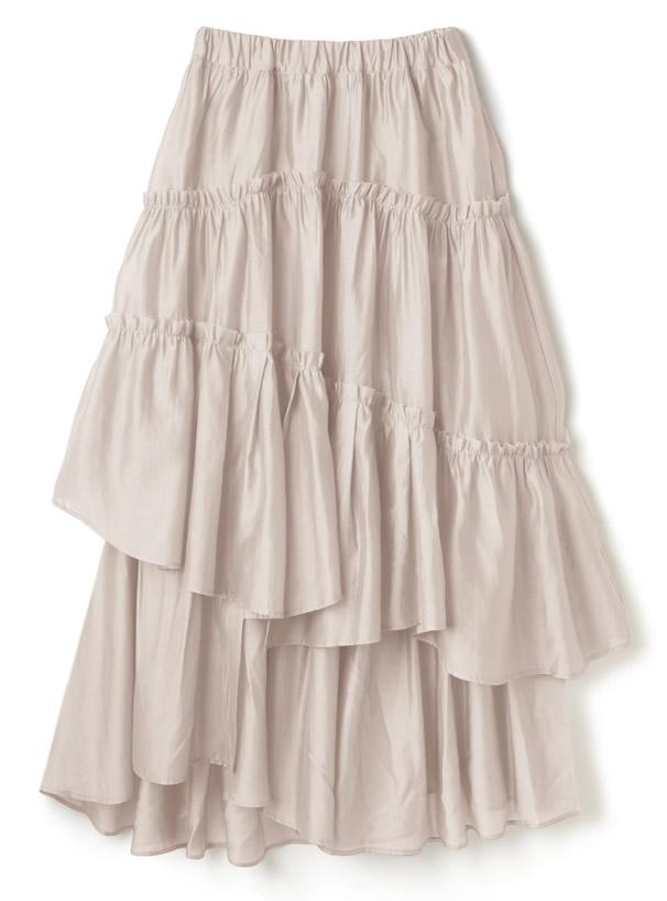 白石麻衣 シアーフリルフレアスカート