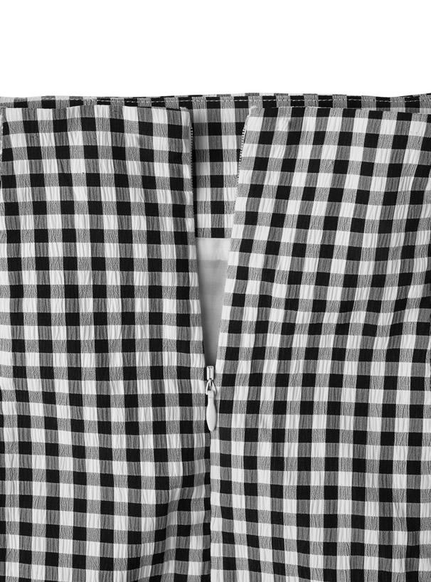 ギンガムチェックラップスカート