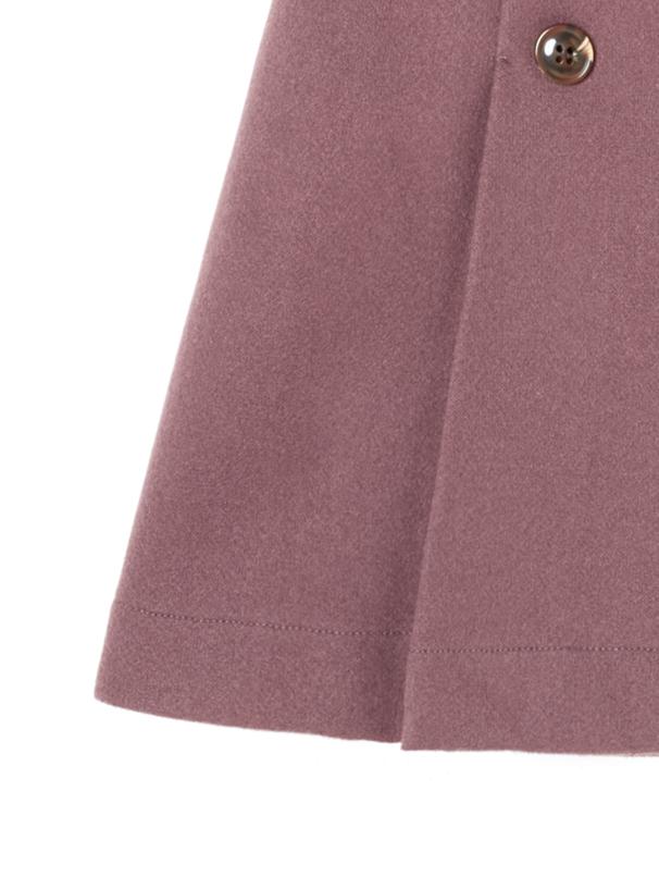 フェイクウールダブルボタンスカート